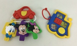 Disney Baby Toys Rattle Keys Mattel Vintage Mickey Mouse and Friends Train - $12.82