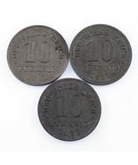 Lot of 6 German Empire & Weimar Republic Coins (1910 - 1922 10 Pf - 50 Pf) - ₹3,169.40 INR
