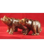 Vintage Ceramic Grizzly  Bears Salt Pepper Shakers Japan - $12.99