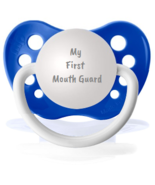 Hockey Pacifier - My First Mouth Guard Pacifier - Sports Binky - Funny S... - $9.99