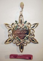 Gorham Our First Christmas Silverplate Ornament w/2006 Removeable Year T... - $16.99