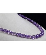 NATURAL PURPLE AMETHYST BEADS FACETED OVAL 17MM 1 LINE 347CTS GEMSTONE N... - $114.00