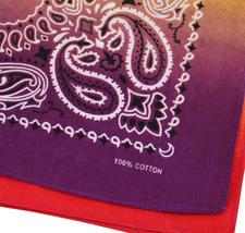 "12 Pack Gradient Rainbow Cotton Head Wrap Scarf Bandana Ombre Colors 22"" X 22"" image 7"