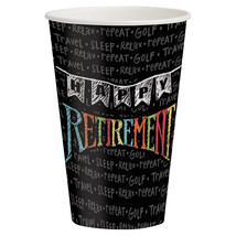 Retirement Chalk 12 oz Hot/Cold Cups/Case of 96 - $54.94