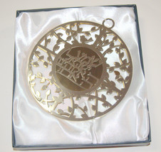 Judaica Kabbalah Round Wall Hang Hebrew Silver 24k Gold Plated Shema Israel  image 2