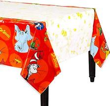 "amscan Dr. Seuss Party, Plastic Table Cover, 54"" x 96"" - $6.88"
