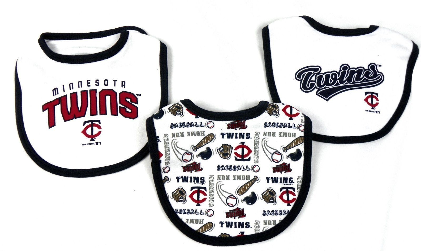 Infant 0-3M Minnesota Twins Bib Set 3 Piece MLB Baby Baseball