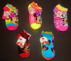 MINNIE MOUSE DISNEY Multi-Pack Low Cut Socks Girls Ages 4-10 (Sock Size ... - $11.87