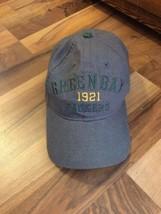 NFL New Era Green Bay Packers Gray Cotton Baseball Cap Adjustable Back - $23.12