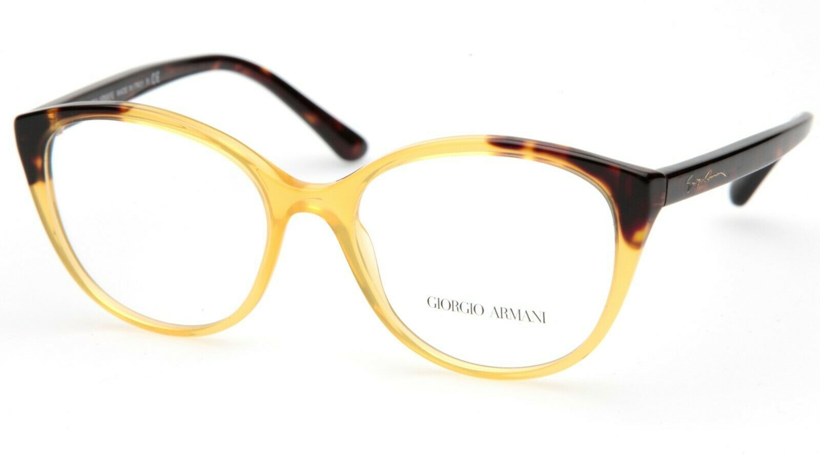 Primary image for New GIORGIO ARMANI AR7138 5582 Yellow EYEGLASSES FRAME 52-17-140mm B43mm Italy