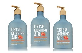 3 Bath & Body Works Crisp Morning Air Nourishing Hand Soap w Shea Extract - $18.50