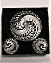 Unbranded Geometric Swirl Brooch & Clip-On Earrings Set - $19.75