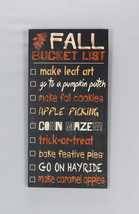 Youngs Fall Decor - Fall Harvest Bucket List Subway Art Sign - $22.72