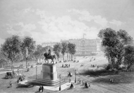 NEW YORK CITY Statue of Washington Union Square - CIVIL WAR Era Print - $39.60