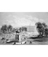 NEW YORK CITY Statue of Washington Union Square - CIVIL WAR Era Print - $39.60