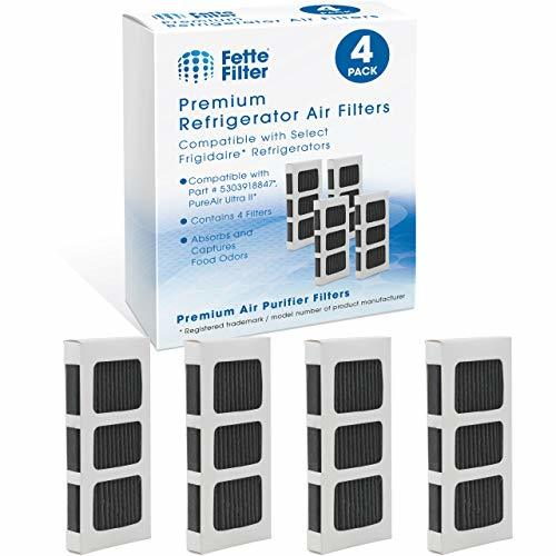 Fette Filter - 4 Premium Refrigerator Air Filter Replacements Compatible with Fr