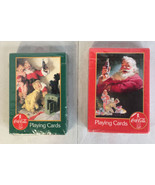 Coca-Cola Santa Claus Playing Cards Christmas 2 Decks Vintage New with H... - $14.84