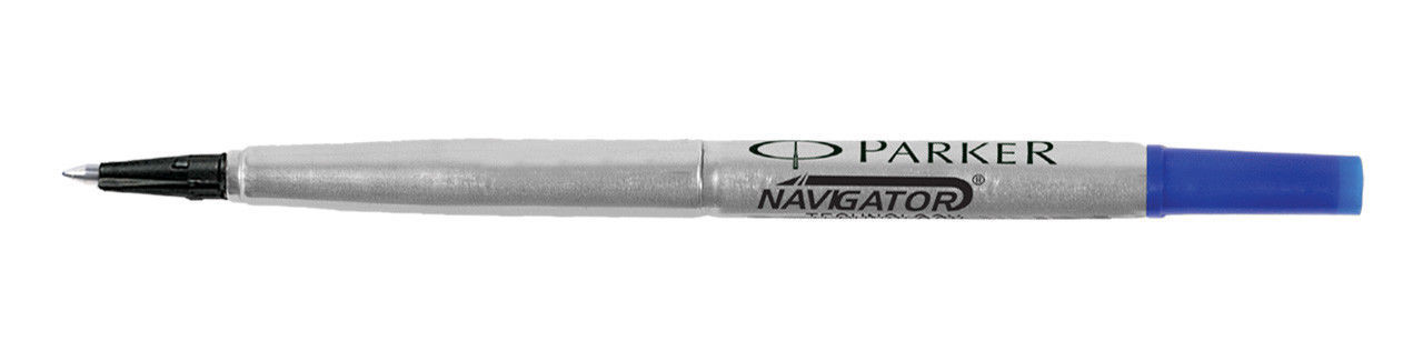 Parker Roller Ball Pen Refill Blue Fine 6 Refill Set - $18.15