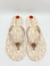 Michael Kors Designer Logo Ballet Pink Flip Flops Sandals w/ MK Charm [Size 10M] - $36.62