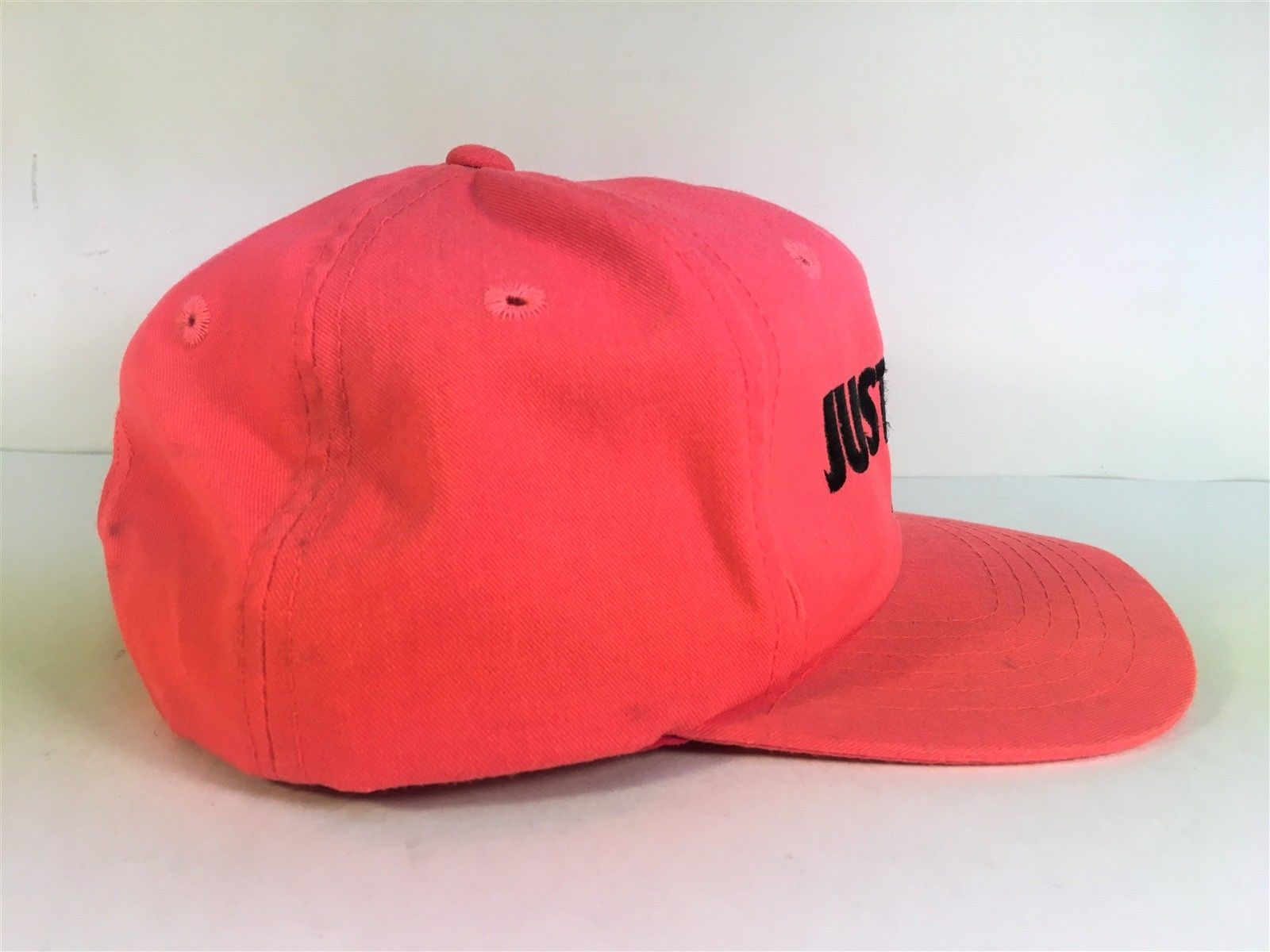 VTG Nike Just Do It Spell Out Snapback Hat Infrared 80s 90s