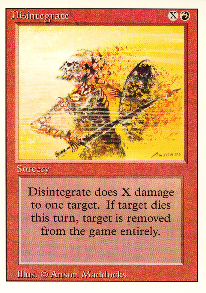Magic: The Gathering 3rd Edition - Disintegrate