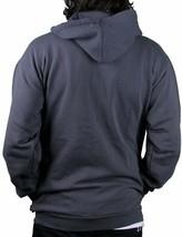 Wesc Sad Monster Zip Up Hoodie Sweatshirt in Dark Shadow Grey NWT image 2