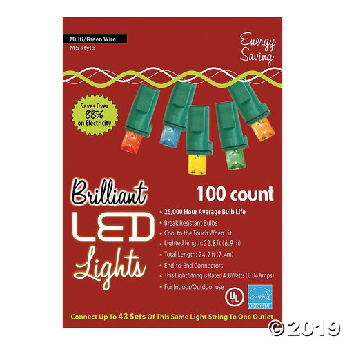 Primary image for 100L MU Holiday LED Lights - M5 Style