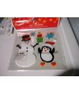 Gel Charms Christmas Window Clings Penguins, Snowman, Snowflakes & Present  - $7.87