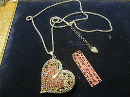 ELEGANT BJ HEART NECKLACE  *VALENTINES ANYONE?* (13556)  >> C/S & H AVAI... - $9.65