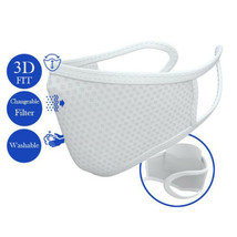 Reusable Face Mask with Filter (5 pcs), Washable Cover WHITE - $7.91