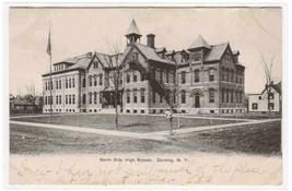 North Side High School Corning New York 1906 postcard - $5.94