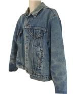 Levi Strauss Mens L Vtg USA Made Blanket Lined Distressed Denim Jean Jacket - $78.21