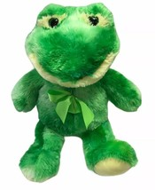 """Best Made Toys Green Frog Plush Stuffed Animal Easter Soft With Bow 22"""" - $29.94"""