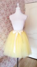 Yellow Ballerina Tulle Skirt Women Girl Midi Tulle Tutu Skirt Custom Plus Size image 8