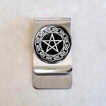 Wicca Celtic Pentagram Stainless Steel Money Clip - $20.00