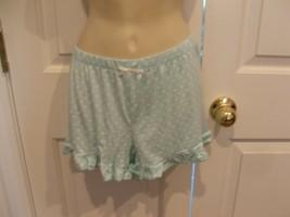 Pj Couture aqua dot ruffled Hem Pajama Bottoms Shorts  Sleepwear size jr... - $11.88