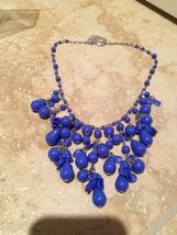 beautiful beach blue beaded necklace - $24.99