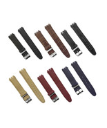 17mm Genuine Leather Standard Swatch Replacement Watch Band Strap Variou... - $12.99+