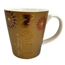 Starbucks Gold Noel Holiday Cheer 2006 Coffee Mug Christmas Cocoa Tea Cup 14 oz - $17.15