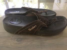 Sketchers Tone Ups Flip-Flops Sandals Brown Women's Size 10 - $20.56