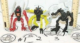 "3 Lot Bionicle Lego 4"" Figures Antroz Gorast Toa Nuparu Mcdonald Happy Meal Toys - $4.88"