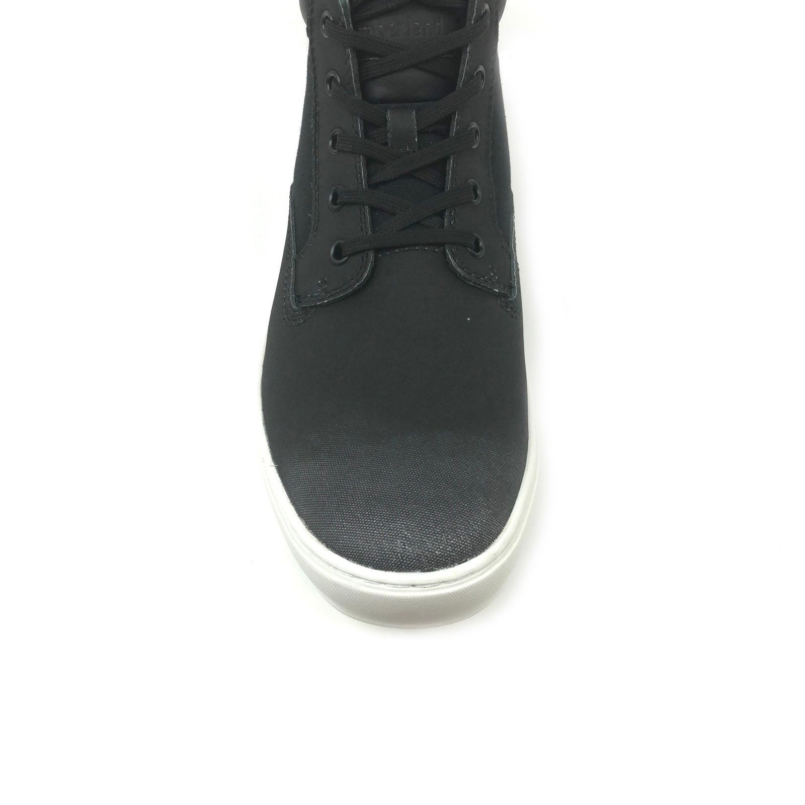 Timberland Men's Dauset Cup Fabric & Leather Chukka Black Shoes A1P1Y