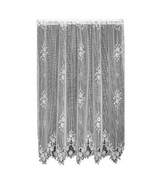 Heritage Lace Tea Rose 60-Inch Wide by 84-Inch Drop Panel, White - $50.99