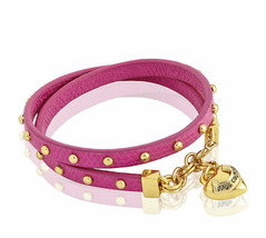 Juicy Couture Bracelet Leather Wrap Heart Charm NEW - $37.62