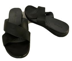 Softwalk Womens Black Leather Slide Sandals Size 9N - $22.50