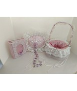 Custom Heirloom Bridal Wedding Set Ring Pillow FlowerGirl Basket Keepsak... - $111.33