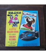 Vintage The Big Brown Bear Read and Hear Book w... - $20.00