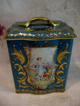 Vintage England English Tea Tin Canister ANGELS CHERUBS DOVES Souvenir - $14.95