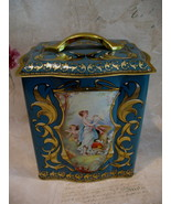Vintage England English Tea Tin Canister ANGELS CHERUBS DOVES Souvenir - $14.95