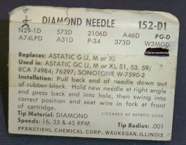 PHONOGRAPH STYLUS NEEDLE for BSR Astatic GC-78(J, M) GC1-78 RPM 152-D1 image 2